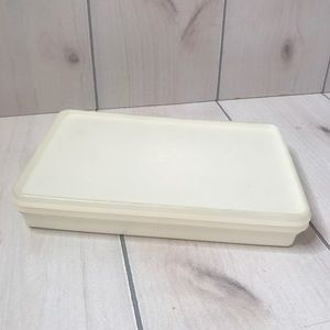 Vintage Tupperware Translucent Rectangle Container